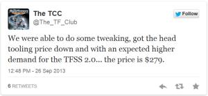 TFSS Price Tweet