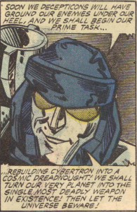 Fun fact: Megatron's characteristic black helmet in the Marvel comic came from an early animation model based on a prototype of the G1 toy.